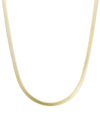 Macy's 14K Gold Necklace 18' Flat Herringbone Chain