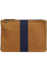 Clare V. Woman Two Tone Painted Leather Pouch Camel