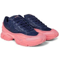 Raf Simons Adidas Originals Ozweego Mesh And Leather Sneakers Navy