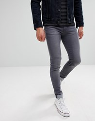 Waven Super Skinny Spray On Jeans In Charcoal Grey Grey