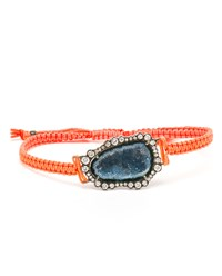 Kimberly Mcdonald Geode And Macrame Bracelet White Gold Black Stone Blue Orange Natural B