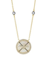 Freida Rothman Caged Iridescent Round Pendant Necklace No Color