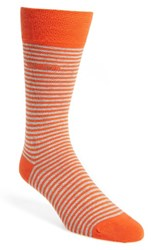 Boss Men's Marc Stripe Socks Medium Orange