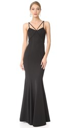 Zac Posen Violet Gown Black