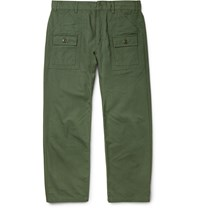 Battenwear Tapered Cotton Ripstop Cargo Trousers Green