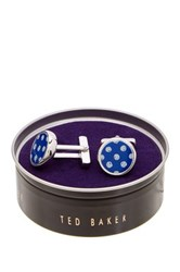 Ted Baker Spotted Cuff Links Blue