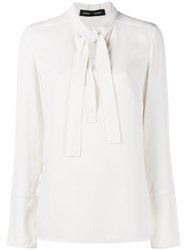 Proenza Schouler Pussy Bow Blouse White