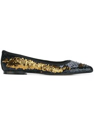 Anna Baiguera 'Anne Rose Blazing Wave' Ballerinas Black
