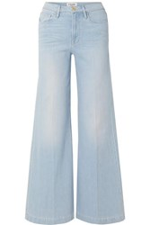 Frame Le Palazzo High Rise Wide Leg Jeans Light Blue