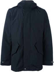 Woolrich Hooded Padded Jacket Blue