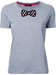 Loveless Bow Detail T Shirt Grey