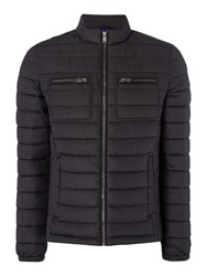 Guess Men's Padded Jacket With Pocket Detail Black