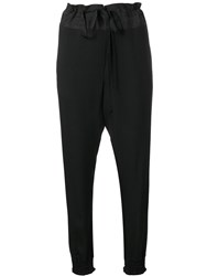 Ann Demeulemeester Casual Tapered Trousers Black