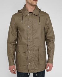 Bill Tornade Beige Khaki Marcus Hooded Raincoat