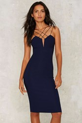 Rare London Asher Bodycon Dress Blue