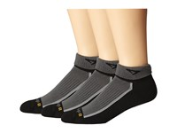 Drymax Sport Trail Running 1 4 Crew Turn Down 3 Pair Pack Gray Crew Cut Socks Shoes