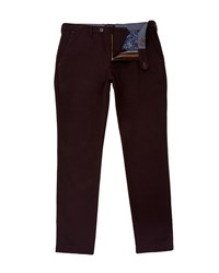 Ted Baker Men's Sorton Melange Trousers Dark Red