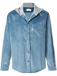 Aime Leon Dore Hooded Buttoned Jacket Blue