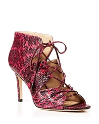 Via Spiga Caged Sandals Vibe High Heel Fuchsia