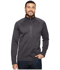The North Face Canyonlands 1 2 Zip Tnf Dark Grey Heather Men's Long Sleeve Pullover Gray