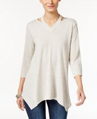 Styleandco. Style Co. Cutout Handkerchief Hem Tunic Only At Macy's Stone Wall