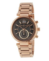 Michael Michael Kors Rose Golden Gunmetal Bracelet Watch No Color