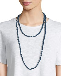 Eileen Fisher Bindu Silk Multi Strand Necklace Denim