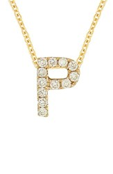 Bony Levy Women's Pave Diamond Initial Pendant Necklace Nordstrom Exclusive Yellow Gold P