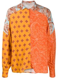 Esteban Cortazar Multi Paisley Print Shirt Orange