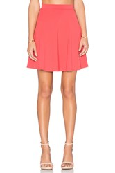 Susana Monaco High Waist Flared Skirt Blush