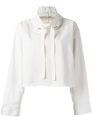 Dkny Drawstring Cropped Top Nude Neutrals