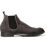 Officine Creative Anatomia Suede Chelsea Boots Gray