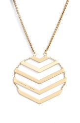 Women's Trina Turk Chevron Pendant Necklace