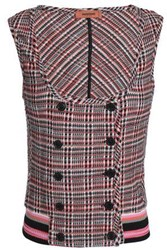 Missoni Checked Wool Blend Vest Red