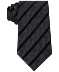 Sean John Men's Diamond Texture Stripe Tie Black