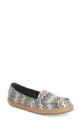 Women's Sanuk 'Funky Fiona' Slip On Mallard Chevron