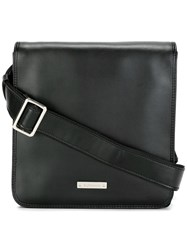 Baldinini Flap Closure Messenger Bag Black