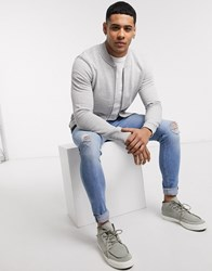 Tom Tailor Bomber Jacket In Grey
