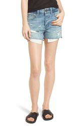 Treasure And Bond High Waist Boyfriend Cutoff Denim Shorts Gravel Medium Vintage