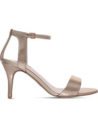 Carvela Kollude Open Toe Metallic Sandals Bronze