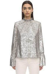 Zadig And Voltaire Sequined Top Silver
