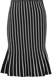 J.W.Anderson Striped Ribbed Knit Skirt Black