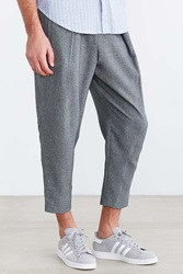 Your Neighbors Keris Pleated Cropped Pant Grey