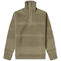 S.N.S. Herning Fisherman Half Zip Knit Grey
