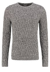 Reiss Panther Jumper Black Mottled Black