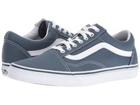 Vans Old Skool Canvas Dark Slate True White Skate Shoes Blue