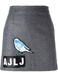Au Jour Le Jour Sequin Bird Skirt Grey