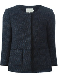 L'autre Chose Tweed Jacket Blue