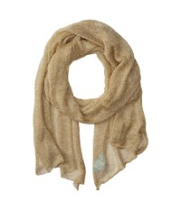 Betsey Johnson Blue By Love Liquid Mesh Wrap Gold Scarves