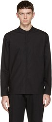 Isabel Benenato Black Cut Out Pocket Shirt